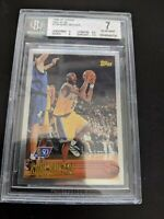 1996-97 Kobe Bryant Topp's 50th Foil #138 Rookie RC NM BGS Rarer Then Chrome