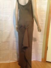 BEAUTIFUL DONNA KARAN Signature Linen Long Summer Dress Size 10