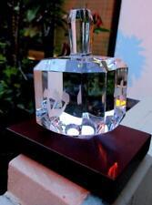 Pristine Baccarat Crystal Dreidel with Custom Wood Stand