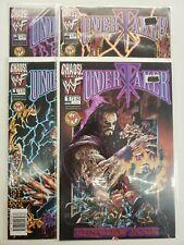 UNDERTAKER #1-3 PLUS PREVIEW BOOK VF/NM 1999 CHAOS COMICS WWF WWE 4 BOOK LOT