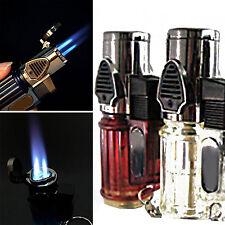 E Windproof Refillable Butane Gas Trip Torch Jet Flame Cigarette Cigar Lighter