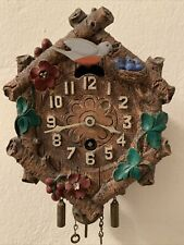 Vintage 1930's Keebler Swinging Bird Pendulette Clock