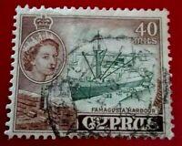 Cyprus:1955 Queen Elizabeth II 40M Rare & Collectible stamp.