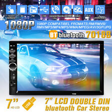 7'' Double 2DIN Car MP5 MP3 Player bluetooth Touch Screen Stereo Radio + Camera