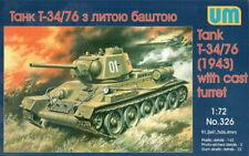 Unimodel 326 - 1/72 Soviet tank T-34/76 (1943) Scale Plastic Model WW II UM 326
