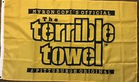 Pittsburgh Steelers Terrible Towel Flag 3x5 ft NFL  Banner Myron Cope
