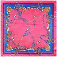 """Women's Rose Red Paisley Square Scarf Print Silk-Satin Head Shawl Scarves 35""""*35"""