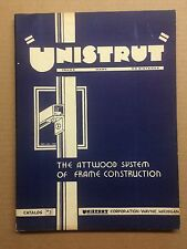1943 Unistrut Metal Frames Catalog Wayne Michigan Warehouse Factory Industrial