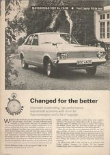 Ford Zephyr MkIV V6 De Luxe Saloon 1968-69 UK Market Road Test Brochure Motor