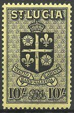 Ste Lucie Saint Lucia Colonie Britannique Armoiries Coat of Arms Wappen * 1938