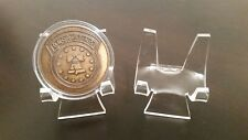 """~30 Premium 2-3/8"""" Display Stand Easel Challenge Coins Medals Medallions Tokens"""