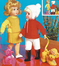 DOLLS CLOTHES TINY TEARS BABY ALIVE SIZE 10, 16 & 20 INCH PATTERN BY EMAIL (928)