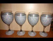 Engraved wine glasses Personalised glittered wine glasses 3for2