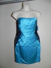 Davids Bridal Dress Size 2 Malibu Blue Strapless F15629 Bridesmaid Prom NWT $149