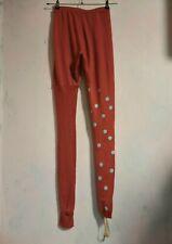 A.F.Vandevorst red wool leggings half sock small medium Antwerp old stock unworn