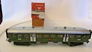 HO Scale Märklin SBB/CFF Swiss Passenger Car, Green, #348/1 Vintage 1950's