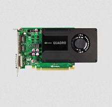 PNY NVIDIA K2000 2gb VRAM CAD Tarjeta gráfica 2x DISPLAYPORT DVI 128 bit PCI