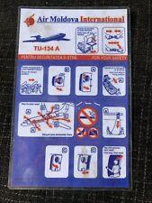 Air Moldova International Tu 134 A Safety Card