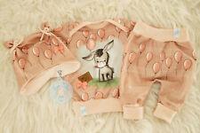 ♥ Babyset, Gr. 56, handmade Unikat, Esel, Newborn, Geburtsgeschenk, apricot ♥