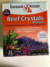 Instant Ocean Reef Crystal Sea Salt Marine Mix 50 Gallon for Aquariums Fishtank