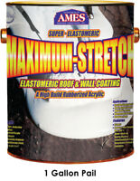 Ames Research MSS1 Maximum-Stretch Elastomeric Roof Coating, 1 Gallon,