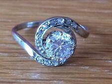 Magnificent Art Deco 14ct White Gold 1.5ct Brilliant Cut Solitaire Diamond Ring