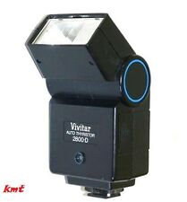 Vivitar 2800 2800-D Flash Pentax K1000 Canon AE-1 Minolta X700 X370 Olympus OM10
