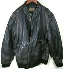 VERY COOL ~ 100% Leather BLACK DISTRESSED ~ Jacket Coat ~ Old Navy ~ XXL 2XL ~
