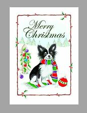 Chihuahua, (Long Coat) Christmas Cards, Box of 16 Cards & 16 Envelopes