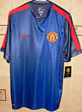 MANCHESTER UNITED FC SOCCER TEAM NIKE BLUE AWAY JERSEY XL SIZE