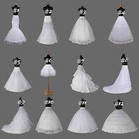 12 Style A Line Mermaid White Bridal Crinoline Petticoat Slip Wedding Underskirt