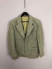 Harris Tweed Chaqueta/Blazer - 44R-Verde-De Lana-Excelente Estado-Para Hombre