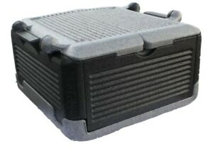 FLIP BOX LG Insulation Box(Grey/Black) Foldable Hot/Cold Cooler, 26 QTS/45 cans