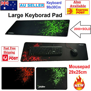 900x300MM Desk Keyboard Pad Mat Black & Red Extended Gaming Mouse Pad Anti-slip