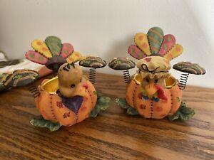 Home Interiors Thanksgiving Turkey Tealight Holder set