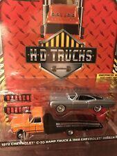 Greenlight  HD TRUCKS 1972 Chevrolet C-30 Ramp Truck & 68' Chevy Impala