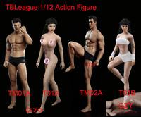 "TBLeague 1/12 Phicen Figure Head Body Model Super Flexible Seamless 6"" Doll Toy"