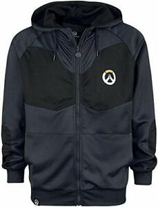 Overwatch Logo - Athletic Tech Hooded Zip Dark BlueBlack M