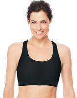 Hanes Women's Sports Bra Racerback Compression Activewear Cool Comfort Running