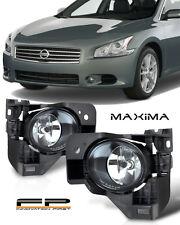 For 2009-2014 Nissan Maxima Front Bumper Fog Lights Clear Lens Complete Kit
