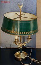 GRANDE LAMPE BOUILLOTTE EN BRONZE DORE ET PATINE MODELE STYLE EMPIRE HAUT.57CM.