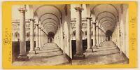 Napoli Chiostro S.Martini Foto Stereo Th1L6n5 Vintage Albumina c1868