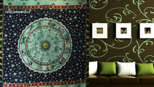 Indian Horoscopic Wall Hanging Single Tapestries Bedspread Throw Ethnic Decor