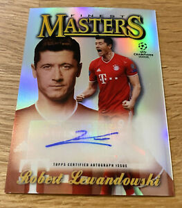 Topps Finest Champions League 2020/21 - Lewandowski Autograph MASTER 02/25
