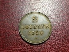 GUERNSEY  2 DOUBLES 1920
