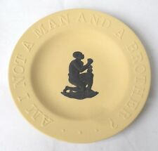 Wedgwood Slavery Plate - Am I not a man and a brother? - Yellow Black Jasperware