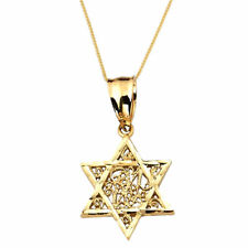 10K Yellow Gold Jewish Star Of David Religious Pendant Judaica Charm 1.40 Grams