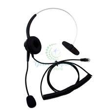 Call Center Telephones Headset RJ9 for AVAYA Nortel M7208 M7310 M7324 & Ascom GE
