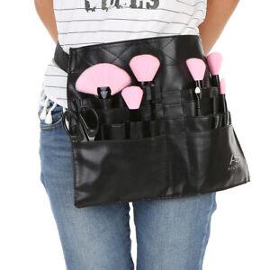 Professional Cosmetic Makeup Brush Apron Bag Artist Belt Strap Holder E9S3