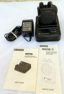 Motorola Minitor IV 4 VHF Stored Voice Pager 151.450 MHz 1-Channel w/Charger